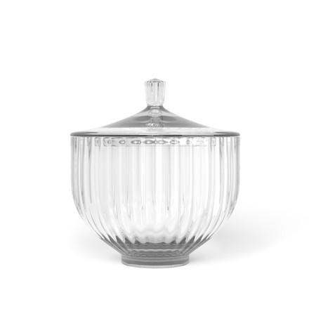 LYNGBY PORCELÆN Bonbonniere i glas ø 14 cm klar