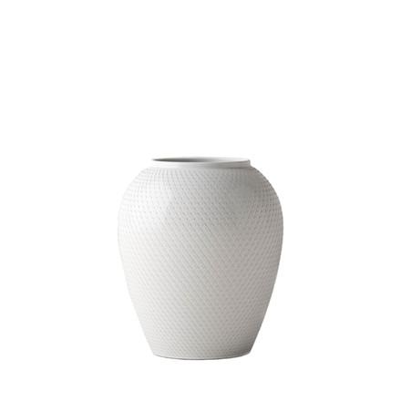 LYNGBY PORCELÆN Rhombe vase 17 cm hvid