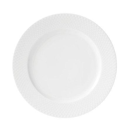 LYNGBY PORCELÆN Rhombe middagstallerken Ø 27 cm hvid