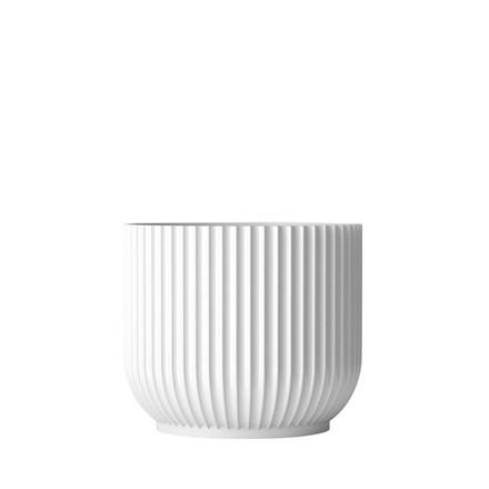LYNGBY PORCELÆN Flowerpot large hvid