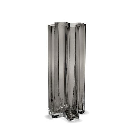 HOLMEGAARD Crosses Vase, smoke, H 25 cm