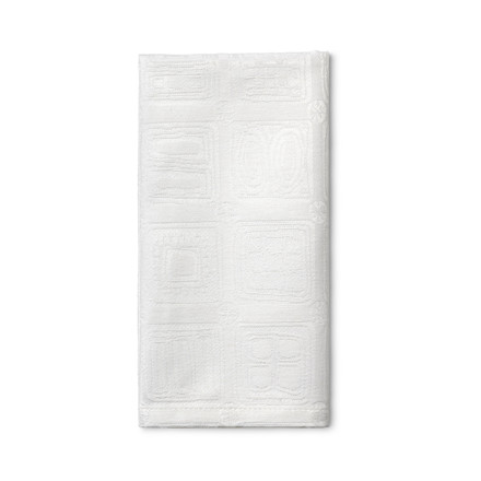JUNA BW Squares Serviet 45x45 cm hvid 4stk