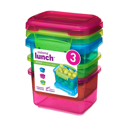 SISTEMA Lunch bokse 3 pack