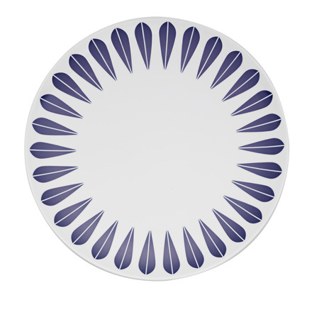 Lucie Kaas Lotus tallerken 28 cm mørkeblå