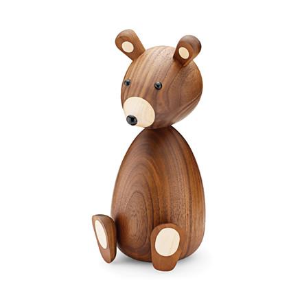 LUCIE KAAS Far bjørn amerikansk valnød 23,5 cm