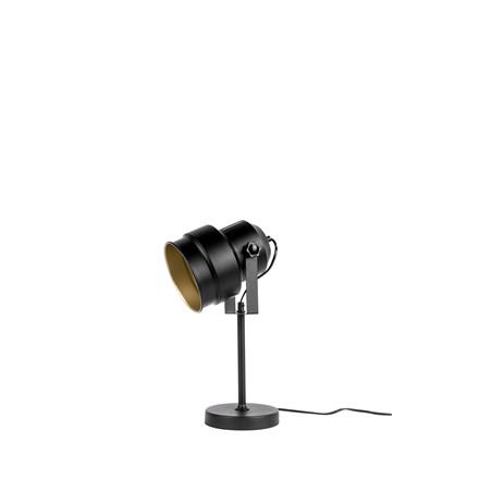 LEITMOTIV Bordlampe Studio sort m.guld