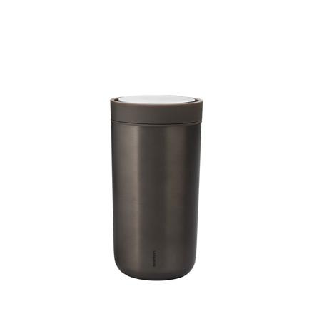 STELTON To Go Click 0,34 liter mørk brun metallic