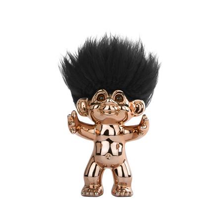 BY SOMMER Lykketrold bronze/sort hår 15 cm