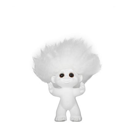 LYKKETROLD Hvid/hvidt hår 9 cm