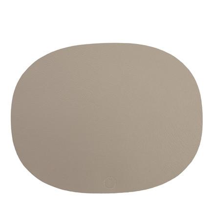 NOORT Oval dækkeserviet lys grå 42x33