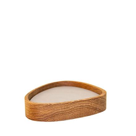 LIND DNA Oak curve træ box nature m. 8 stk glasbrik