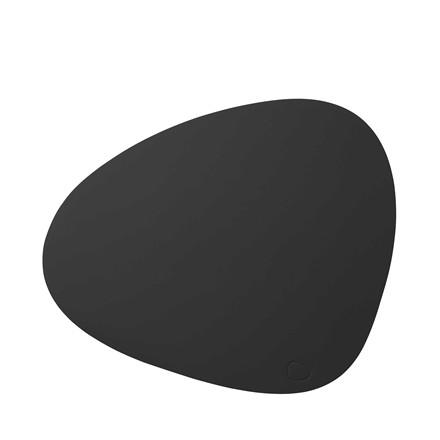 LIND DNA Softbuck curve large dækkeserviet mørk grå