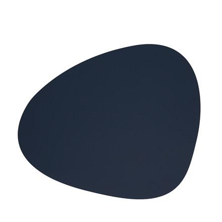 LIND DNA Softbuck curve dækkeserviet stor navy blå