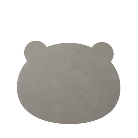 LIND DNA Nupo bjørn børnedækkeserviet lys grå
