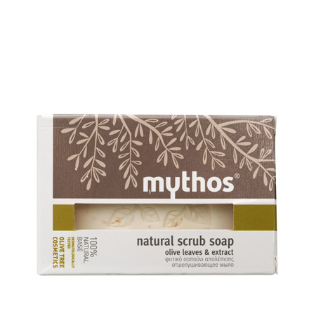 Mythos natural scrub soap olive extract + leaves 100 g