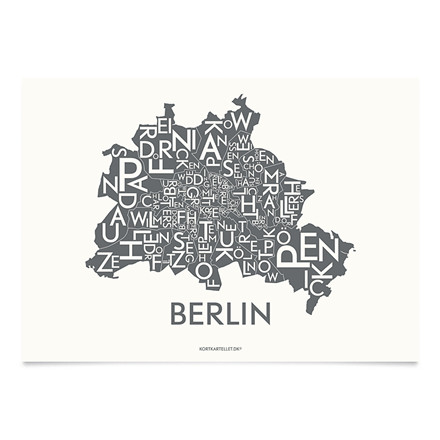 Kortkartellet Berlin 14,8 X 21 cm koksgrå