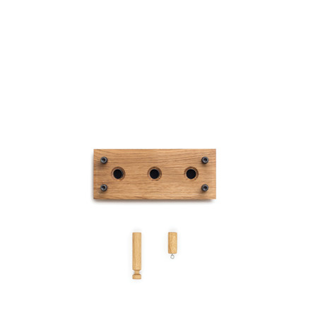 Roon & Rahn Moodboard knagerække 1X3 kit eg