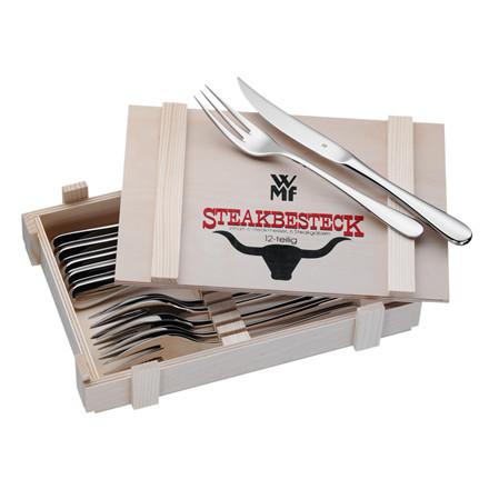 WMF Steakbestik i trææske 12 dele