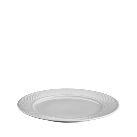 PILLIVUYT Plissé tallerken flad lys grå 26 cm