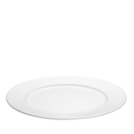 Pillivuyt Plissé tallerken flad, hvid Ø2