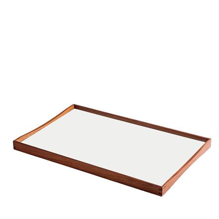 ARCHITECTMADE Turning Tray medium teaktræ sort/hvid