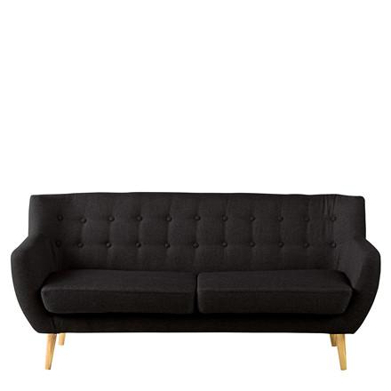 MIAMI 2½ pers. sofa sort