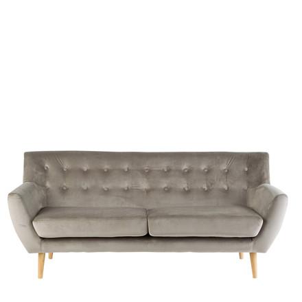 MIAMI 2½ pers. velour sofa brun