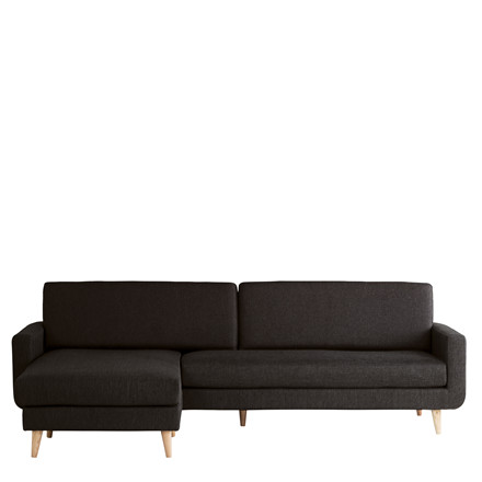 FLORIDA XL chaiselong sofa sort
