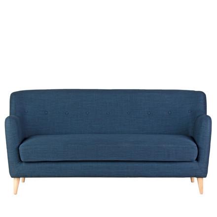 OHIO 3 pers. sofa blå