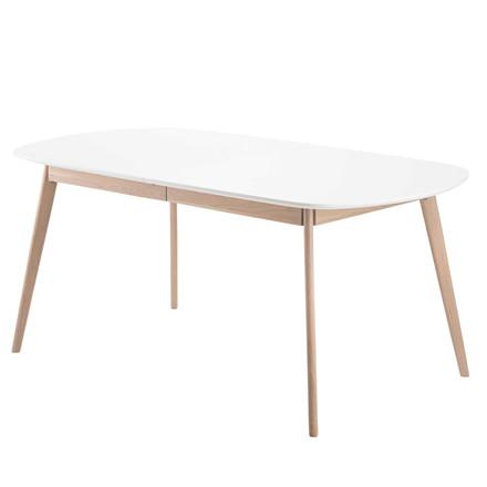BLOOM spisebord i laminat med udtræk hvid L 175-255 x B 90 cm