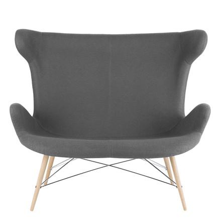 VICTOR 2 seat sofa grå