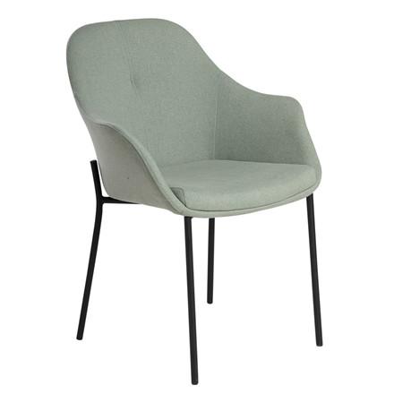 NEW AGE spisebordsstol grøn stof