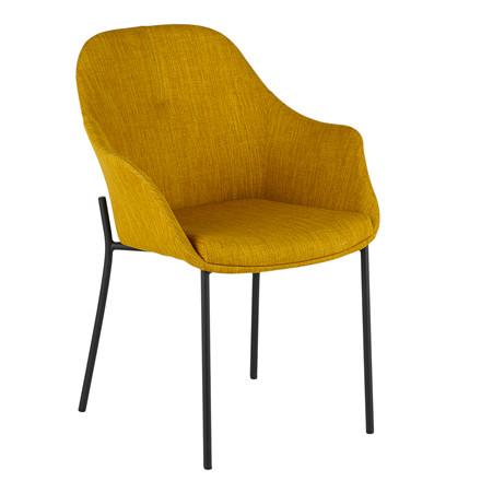 NEW AGE spisebordsstol gul stof