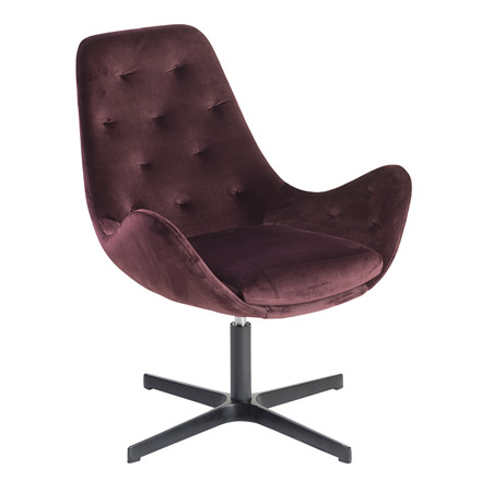 ROYAL lounge velour stol maroon