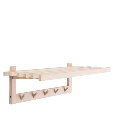 Wood hattehylde 80x33x24 cm