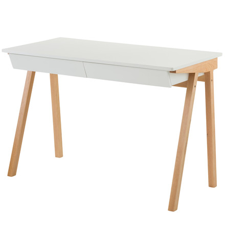 ZIVO skrivebord m. skuffe hvid