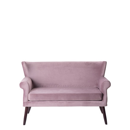 LONDON velour sofa dusty puple