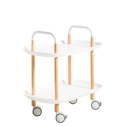 EDGE rulle- sidebord hvid