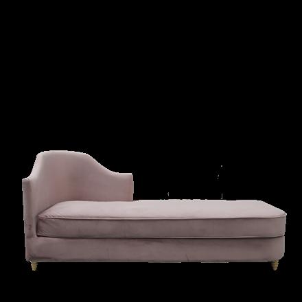 MONACO velour chaise lounge dusty purple