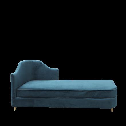 MONACO velour chaise lounge petrol