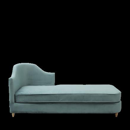 MONACO velour chaise lounge ocean green