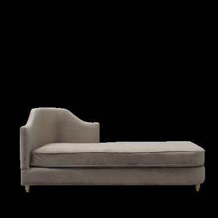 MONACO velour chaise lounge brown