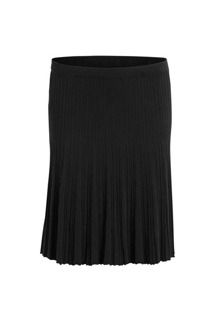 VILA Vinow knit skirt sort
