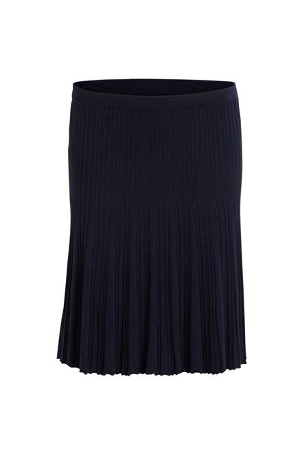 VILA Vinow knit skirt blå