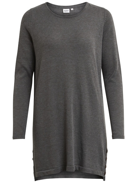 OBJECT Anna light knit tunic grå