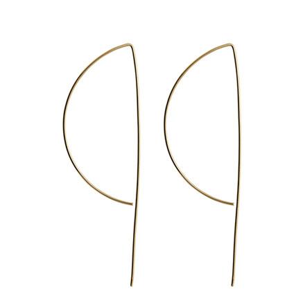 SILKE RENÉE P shape øreringe