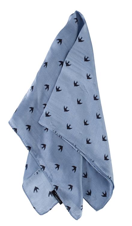 CRÉTON Swallows silke tørklæde