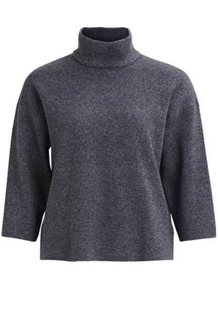 VILA Violympa 3/4 sleeve knit top ebony