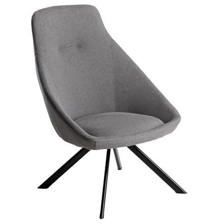 VIGGA loungestol grå