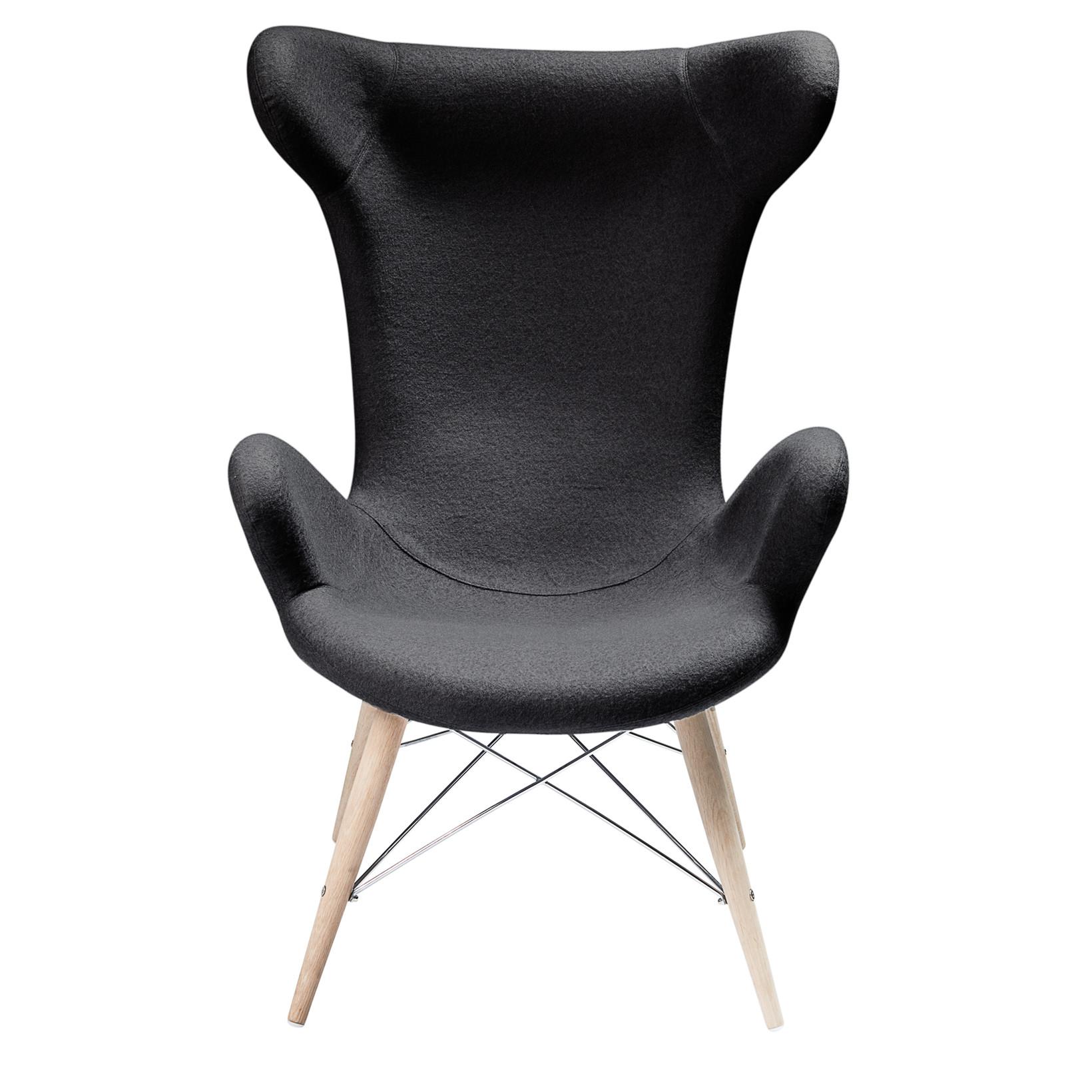 52e805d5 VICTOR loungestol uldfilt sort » Køb her